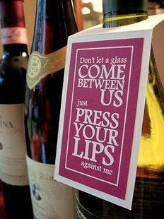 Wine bottle gift tags =P