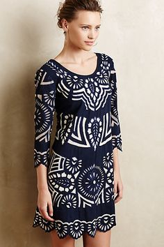 Kerala Embroidered Shift #anthropologie