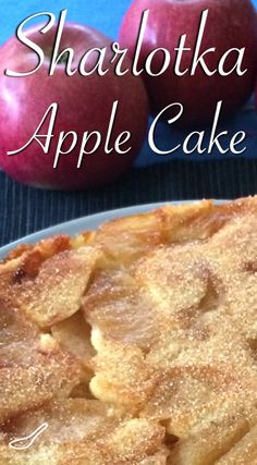 This is the best Russian Apple Cake recipe. It's light, fluffy, moist and delicious.