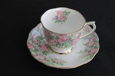 Vintage Royal Albert White Wild Rose Tea Cup Saucer by PeggysTrove, $20.00