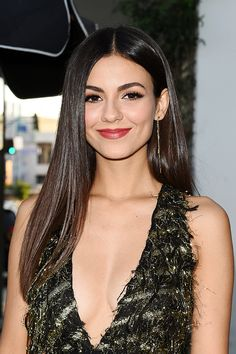 Victoria Justice arrives to Harper's BAZAAR party in West Hollywood on August 22, 2017.