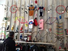 Bike Shop Barcelona 2012  To thnk you may only need vertical space for a pop-up shop! popuprepublic.com