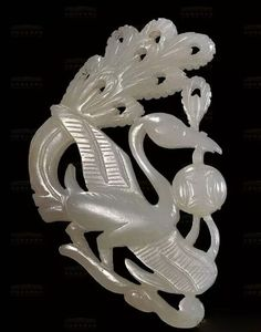 Jade peacock hairpin, Song Dynasty; collection of National Museum of China