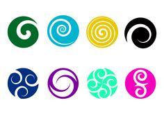 Vector Logo Gratis de Koru Print Design, Web Design, Logo Design, Koru Tattoo, Maori Words, Maori Symbols, Graphic Design Tutorials, Design Templates, Blog Logo