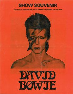 """David Bowie, """"The Rise And Fall Of Ziggy Stardust And The Spiders From Mars"""" Show Souvenir ⚡️ Photo Wall Collage, Picture Wall, Photo Trop Belle, Poster Wall, Poster Prints, Rock Vintage, Rock Band Posters, Vintage Music Posters, Pop Rock"""