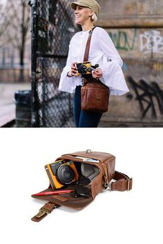 The new Bond Street camera bag, handcrafted from full-grain leather.