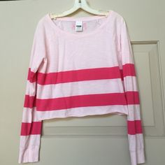Victoria's Secret Pink Shirt Super cute and in great condition! The tag says medium but it fits more like a small! PINK Victoria's Secret Tops Crop Tops