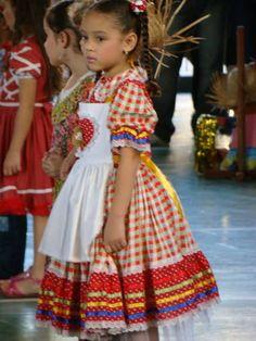 Vestido Caipira Bonequinha No Avental - | DA LILI STORE BABY | 2FA939 - Elo7
