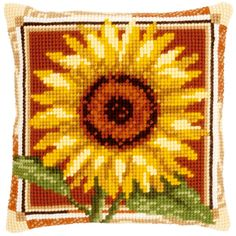 Sunflower - Kruissteekkussen - Vervaco