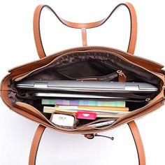 Amazon.com: Women's Leather Tote Bag Shoulder Bag Large Purse Handbags fit 14 inch Laptop Bag (Red): Computers & Accessories