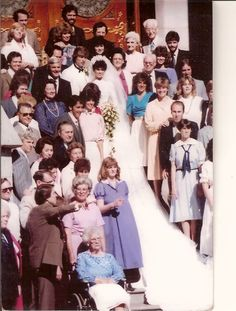 Marie, Steve and their families.The first wedding.