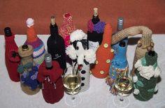 Cozies made by Matayarnas for exhibition Spot Herons Flight. Herons, Cozies, This Is Us, Crochet Earrings, Wine, Bottle, Flask, Jars