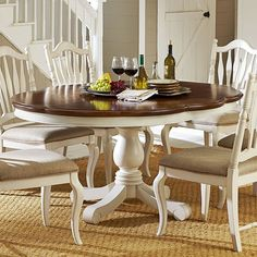 Haven High/Low Dining Table (Buttercream White) Low Dining Table, Painted Dining Room Table, Dining Table Makeover, Dinning Room Tables, Small Dining, Dining Room Design, Dining Room Sets, Diy Farmhouse Table, Shabby Chic
