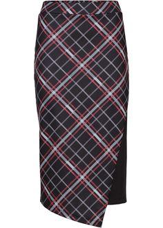 Клетчатая юбка черный/красный в клетку - BODYFLIRT купить онлайн - bonprix.ru