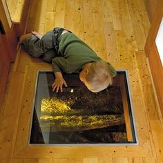 plexiglass window in floating home