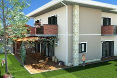 Progettazione Villa singola Pergola, Garage Doors, Shed, Outdoor Structures, Outdoor Decor, Studio, Home Decor, Homemade Home Decor, Backyard Sheds