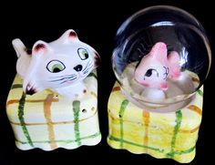 Vintage Home Holt Howard Chicks Salt /& Pepper Shakers with Noisemakers 1959 Kawaii Kitsch Made in Japan Collectible