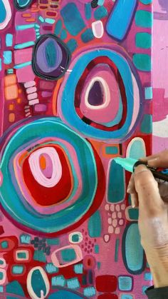 Art Journal Inspiration, Painting Inspiration, Hippie Painting, Pattern Art, Pattern Painting, Bright Art, Hippie Art, Acrylic Art, Abstract Art For Kids