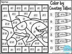 FREE Kindergarten Color By Code Amazing color by code pages for kindergarten. These pages can also be used for Pre-K classroom. Kindergarten Colors, Free Kindergarten Worksheets, Free Worksheets, Math Classroom, Kindergarten Activities, Maths, Kindergarten Addition, First Grade Math Worksheets, First Grade Freebies