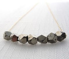 Pyrite Nugget Necklace. Gorgeous structure.