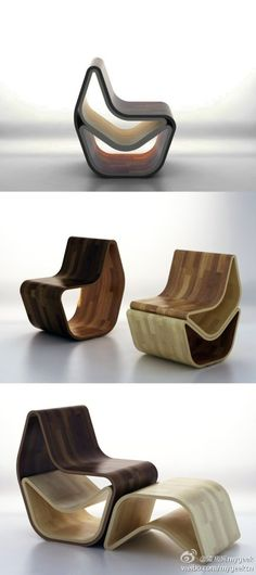 These Chairs are from China..I like the shape, that you can pile them, and that they are from woud.