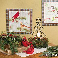 Cheery Christmas Cardinals - Terry's Village Holiday Decor