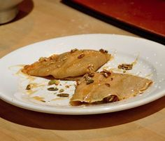 Mesquite Crêpes with Caramelized Apples and Cinnamon Syrup