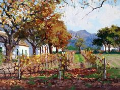 Roelof Rossouw Landscape Paintings, House Paintings, Oil Paintings, South African Artists, Pretty Art, Painting Inspiration, City Scapes, Cool Art, Sculptures