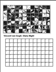 Mystery Grid Drawing Worksheets 2 - ART
