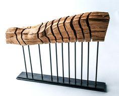 Holz Skulptur Paul Föckler Wirbelsäule moderne Kunst