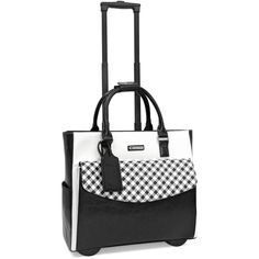 Brand: Cabrelli Black/White Concealable retractable handle Two in-line rollerblade wheels Double handles that can be fastened find out more. Rolling Laptop Bag, Rolling Briefcase, Rolling Bag, Laptop Bag For Women, Travel Bags For Women, Laptop Bags, Best Carry On Luggage, Travel Luggage, Airplane Carry On