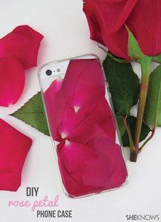 DIY Rose Petal Phone Case