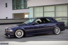 Montreal blue BMW e36 cabrio on OEM BMW Styling 5 (BBS RC) wheels