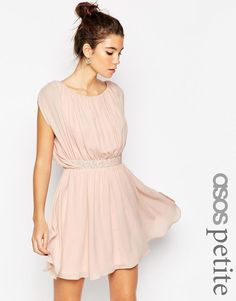 ASOS Petite | ASOS PETITE Embellished Waist Mini Dress at ASOS