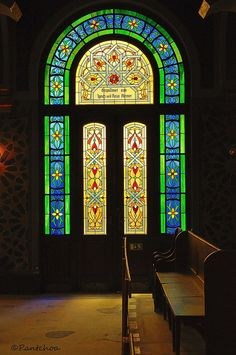 Prague : Stained glass window / Jubilee Synagogue / Jubilejní synagoga / The Jerusalem Street Synagogue. by Pantchoa, via Flickr