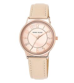 Anne Klein® Rose Goldtone Strap Watch with Bold Numerals | Bon-Ton