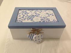 #vacchetti #vacchettispa #scatola #scatolaportathe #biancoazzurro #complementidarredo