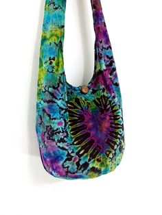 Handbags Tie Dye bag Cotton Bag Hippie bag Hobo bag by veradashop, $9.98