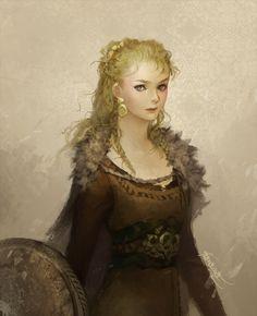 Shieldmaiden, Janaina Medeiros on ArtStation at https://www.artstation.com/artwork/shieldmaiden-2a71905e-5ae6-4b4e-98e4-9b9d47247033