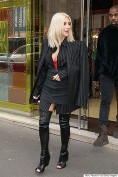 Kim Kardashian Wears Questionable Outfit During Paris Fashion Week