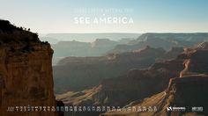 Smashing magazine : Desktop Wallpaper Calendars July 2015 - See America!
