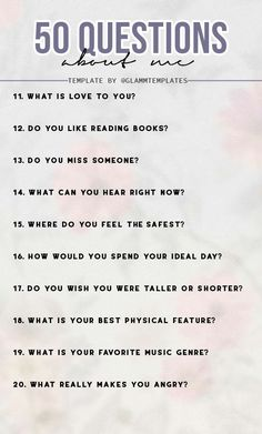 Conversation Starter Questions, Conversation Starters For Couples, Snapchat Story Questions, Instagram Questions, Romantic Questions, Fun Questions To Ask, Getting To Know Someone, Get To Know Me, Journal Questions