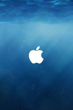 Apple iOS 8 Underwater Logo iPhone 5 Wallpaper