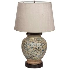 Middle Eastern Ceramic Lamp | From a unique collection of antique and modern table lamps at https://www.1stdibs.com/furniture/lighting/table-lamps/