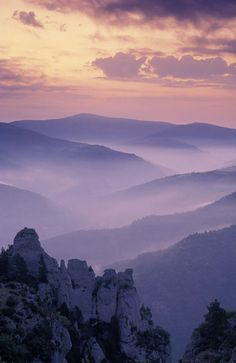Dawn over Cevennes National Park, near Florac, Lozère, France | David Noton Photography