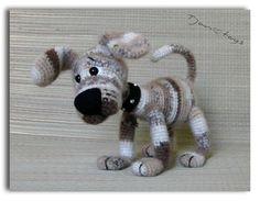Welpen OOAK Little Dog gefüllt Tiere häkeln Handmade Soft von Tjan