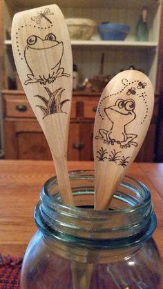 Cute frog spatulas