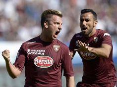12.04.2015 Torino-Roma 1-1 Maxi Lopez and Fabio Quagliarella