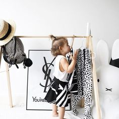 FUN FACT! Did you know that babies only see black and white until around 18 months? Because their organs are still developing, its best to have black and white shapes and colors for them to process ✌🏻Lil miss Zara here posing in front of our new nursery 'You'reSoLoved' 50x70cm print ❤️ Afterpay available x  #Regram via @paperprovision