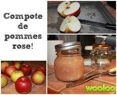 Compote de pommes rose